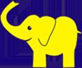 Жёлтый_слоник_-_логотип_клуба_умных_игр_Гамблер